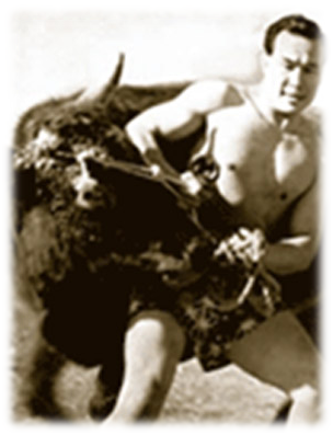 Ояма борется с быком